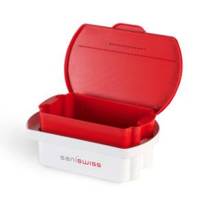 Saniswiss Desinfektionswannen sind ideal für die Anwendung unserer Konzentrate zum Einlegen der Instrumente.