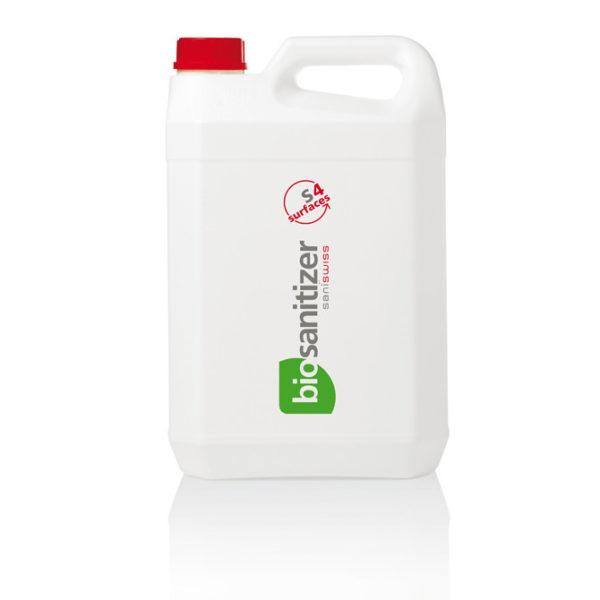 Saniswiss biosanitizer S4 ist ein ökologisches, vielseitiges Desinfektionsmittel für alle abwaschbaren Oberflächen, auch in der Lebensmittelverarbeitung.