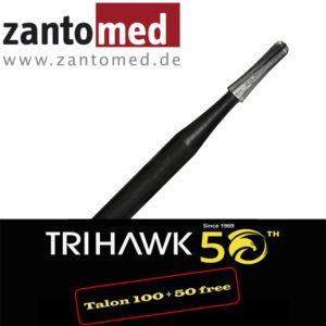 Der TriHawk Talon 10 ist ein Einmalkronentrenner, der dank seines speziellen Schliffs sowohl horizontal als auch vertikal schneidet.
