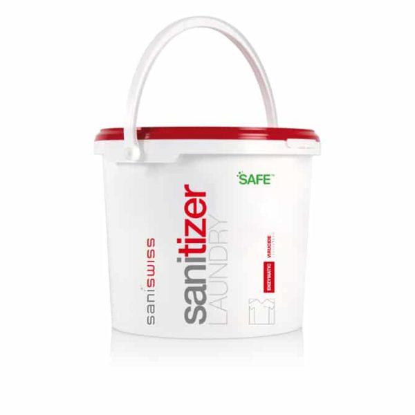 Saniswiss biosanitizer L1 ist ein ökologisches Waschmittel für Textilien mit gleichzeitiger Desinfektionswirkung.